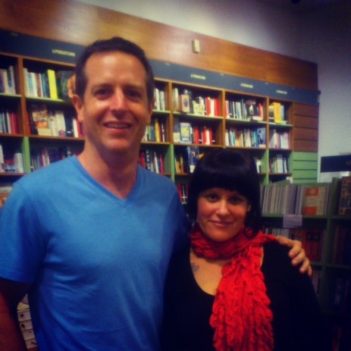Hugh Howey, author of Wool, all round nice dude and tall person.